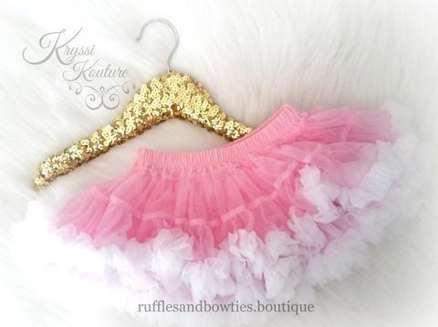 Pink with White Bottom Soft Petti Tutu Skirt Bloomers