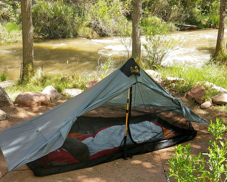 My absolute go to tent.  Six Moon Designs Lunar Solo - ultra lite weight one person shelter.  21 oz.