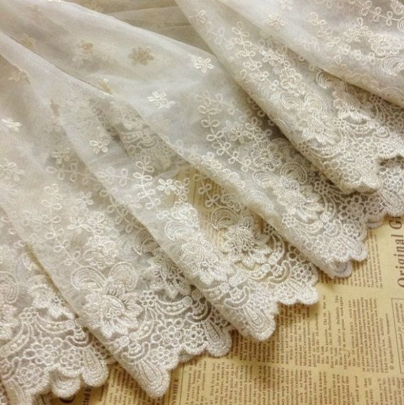 Gold Lace Fabric, Embroidered Floral Fabric, Organza Lace Fabric, Home Decor Costume Wedding Fabric Supplies