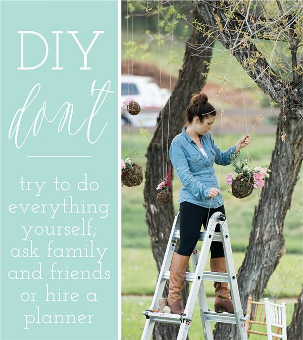 DIY Do's and Don't's for A Perfectly Balanced Wedding Day - Wedding Party