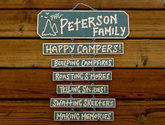 Camper Camping And Rv Campsite Personalized Carved Wood