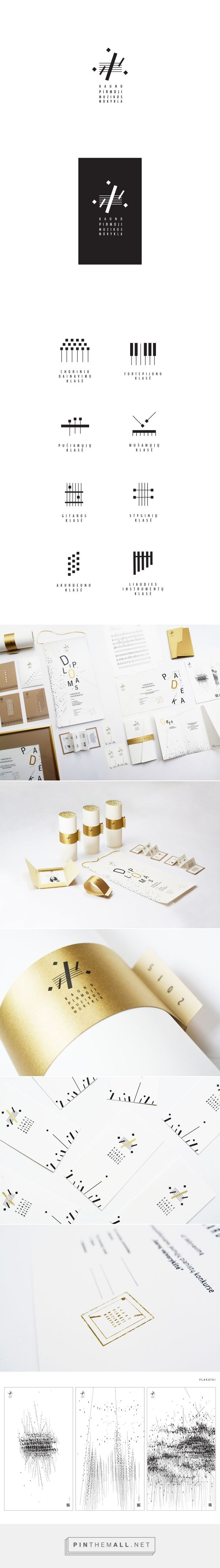 Visual identity of Kaunas 1st music school on Behance... - a grouped images picture - Pin Them All