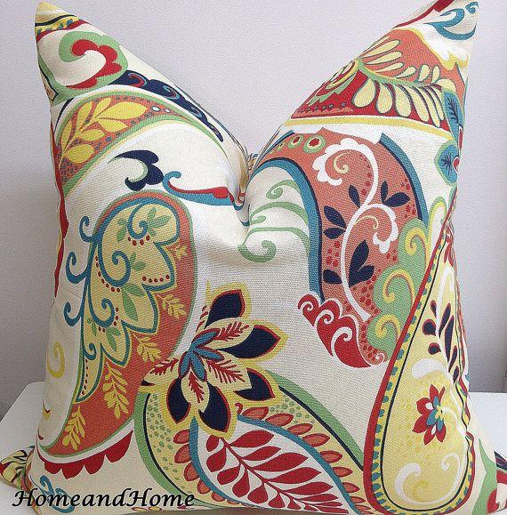 Rits sluiting Covington Whimsy Paisley Mardi Gras Multi kussensloop decoratieve gooien kussen 12 x 18 14 x 18 x 18, 14 16x16, 20 x 20