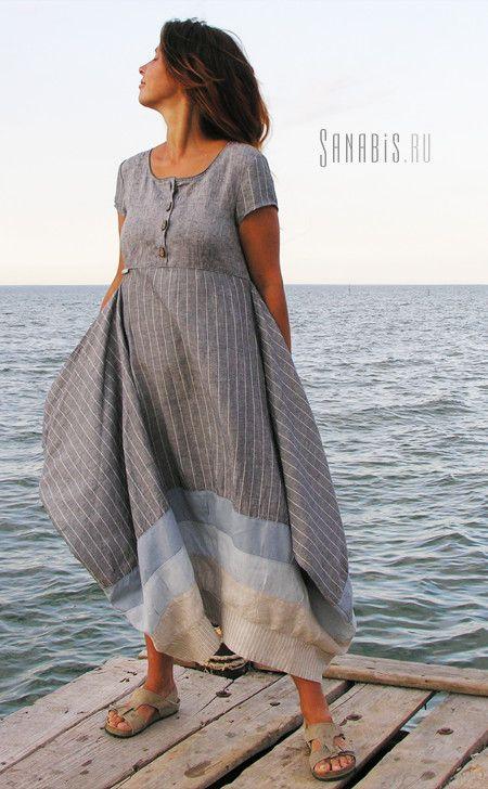 Коллекция женской одежды в стиле бохо. Просторные, свободные силуэты и натуральные ткани, природных цветов, сделают…