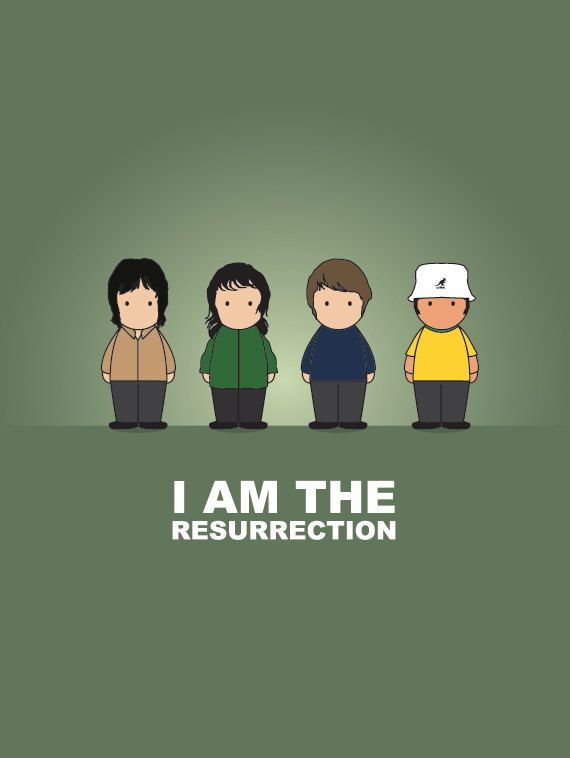 The Stone Roses Print by CreativePrint on Etsy, £10.00