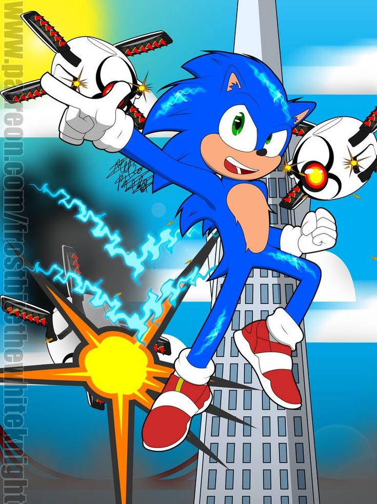 Sonic the Hedgehog 2020 by FrostbiteWhiteKnight on