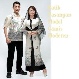 jual model baju gamis batik sarimbit paling baru yang harganya paling murah dan kualitas terbaik untuk pasangan muslim maupun baju batik kopel