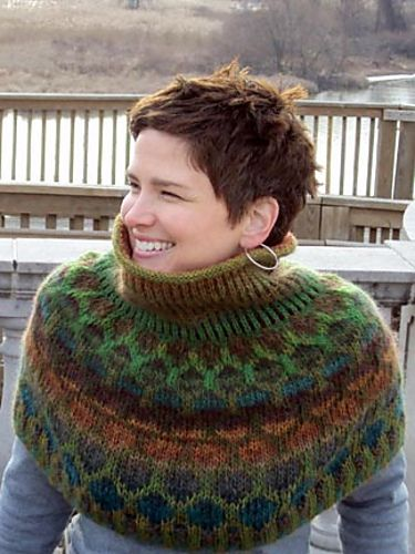 Shingle Cowl by Kathleen Gill-Slee, super awesome gal!!! -- the haircut is cute too