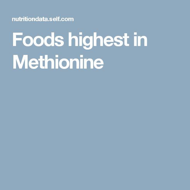 Foods highest in Methionine