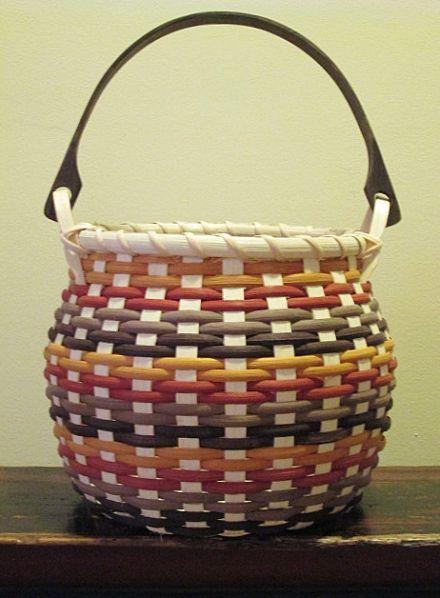 Basket Weaving Handles : Round swing handle basket baskets weavings