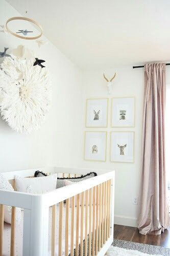 Made2Make Blog   Neutral Black, White, and Blush Girl Nursery