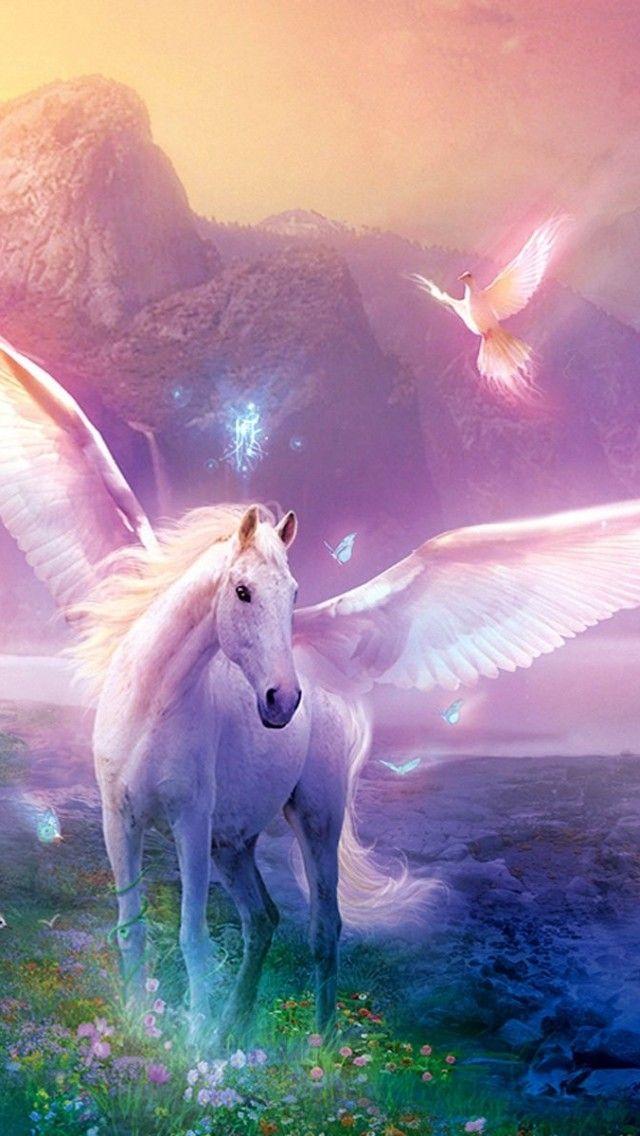 Unicorn iPhone Wallpaper Color Glitter Sparkle Glow