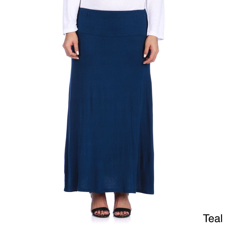 24/7 Comfort Apparel Women's Plus Size Maxi Skirt