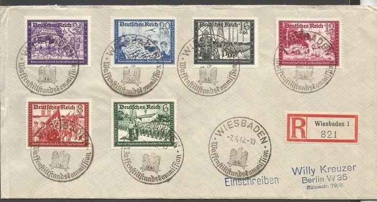 DEUTSCHES REICH - MICHEL nr 773-8 MICHEL EURO 70.- (338) oppføring i Tyskland & koloniene,Europa,Frimerker kategorien på eBid Norge