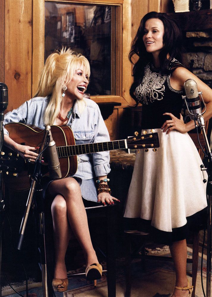 Dolly Parton and Reese Witherspoon.
