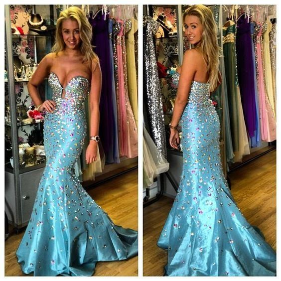 Sparkly Blue Mermaid Prom Dress Long Rhinestones Overall Sweetheart Frmal Dresses For Women Open Back Night Party Gowns Online Clearance Prom Dresses Cream Prom Dresses From Dressonline0603, $137.17| Dhgate.Com
