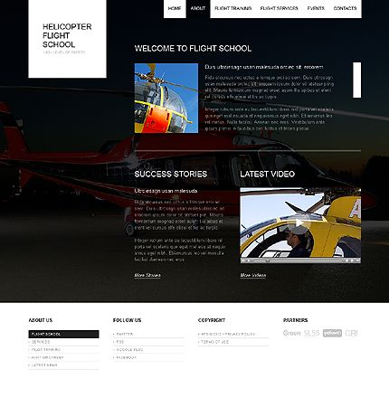 Helicopter Flight Website Templates by Cowboy