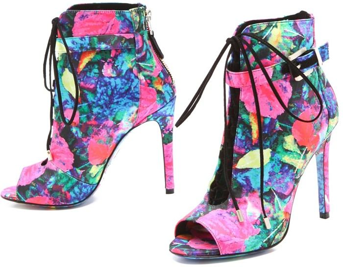 B Brian Atwood 'Linford' Floral Booties