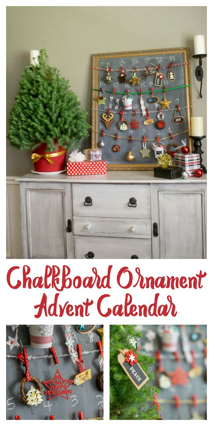 See how easy it is to create a fun and useful advent calendar! Countdown 24 days to cover December 1st thru the 24th. Your kiddos will adore it! It makes a stunning seasonal display. Use handmade ornaments or store bought Christmas ornaments- the choice is yours!