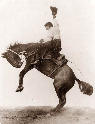"""LET ER BUCK""......Vintage Photo, Bronc Breaker.....(via Old Picture of the Day.)"
