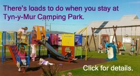 Things to do when you camp at Tyn y Mur camping and caravan site in Abersoch North Wales