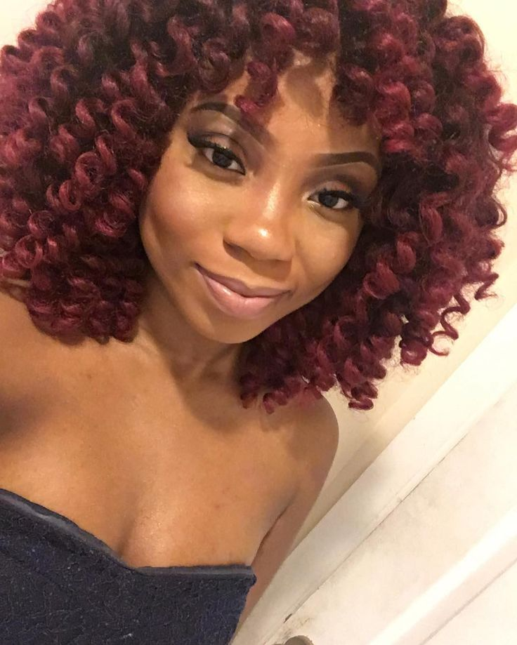 """#Repost from @justme_niome  Happy Bouncy Curl 12"""" by Janet Collection…"""