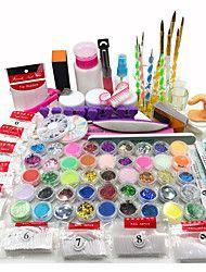 Nail+Art+Kit+Acrylic+Powder+Liquid+Glitter+UV+Gel+Glue+Tips+Brush+Set+–+USD+$+89.99