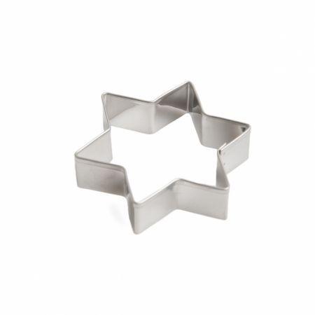 Uitsteekvorm voor koekjes, ster, vertind metaal, 6 cm