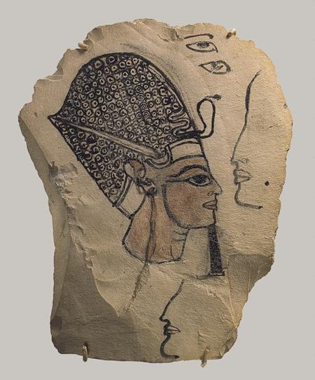 Artist's sketch of Ramesses IV, Limestone, New Kingdom, Dynasty 20, reign of Ramesses IV, c. 1153 - 1147 BC