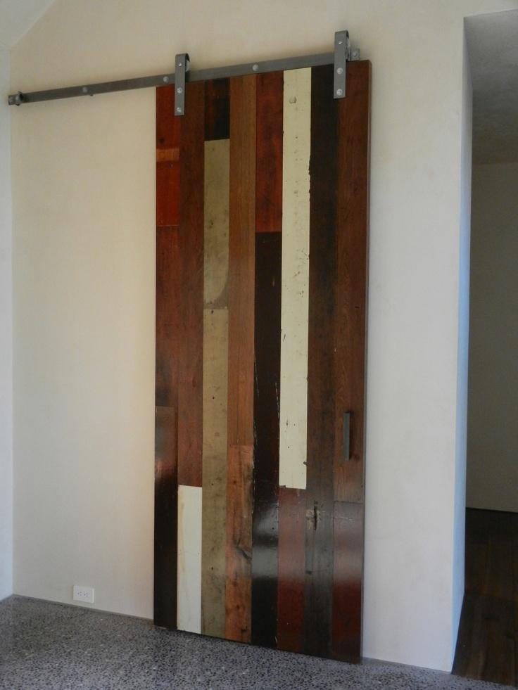 lillie design - reclaimed barn door - wood from original residence