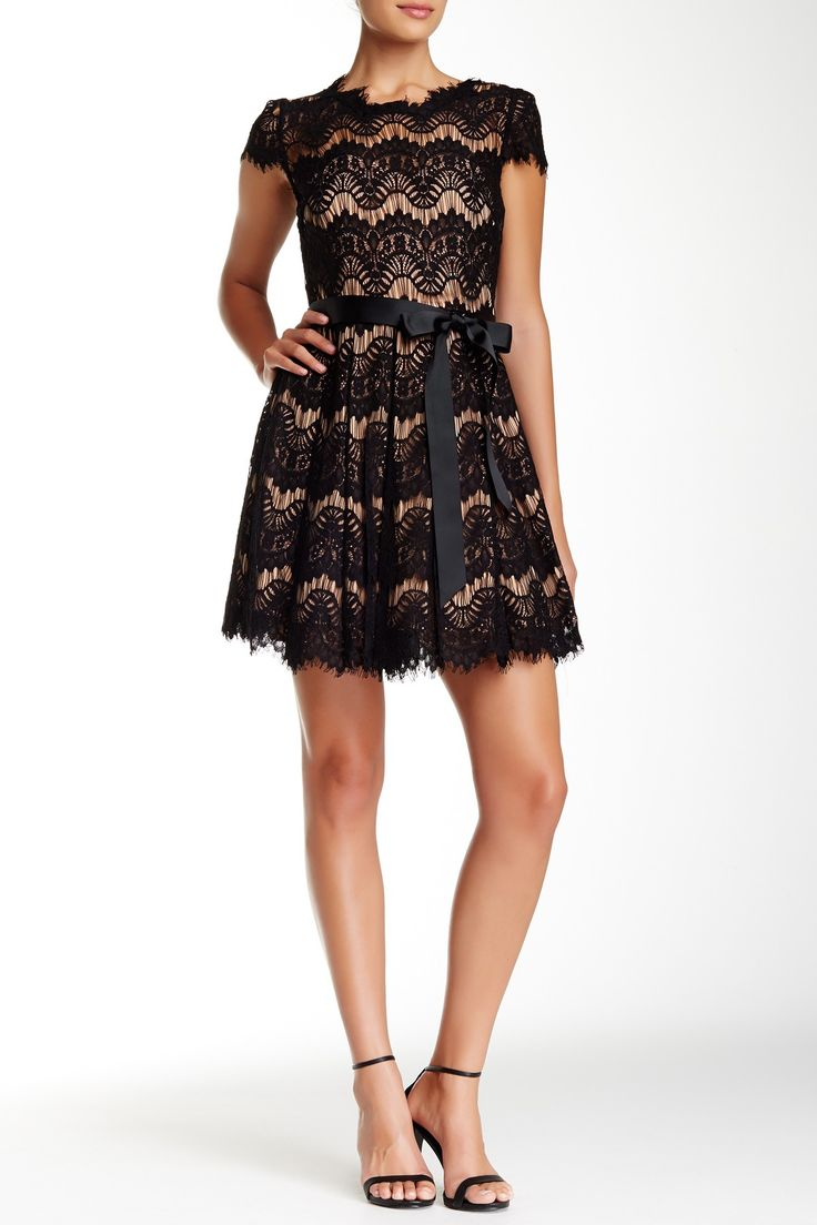 issue new york pleated lace dress hautelook my style dresses pinterest products. Black Bedroom Furniture Sets. Home Design Ideas