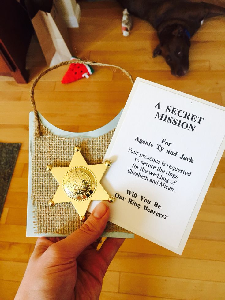 Love my ring bearer secret agent ring security invitation from @sugarnotes on Etsy! #etsystar