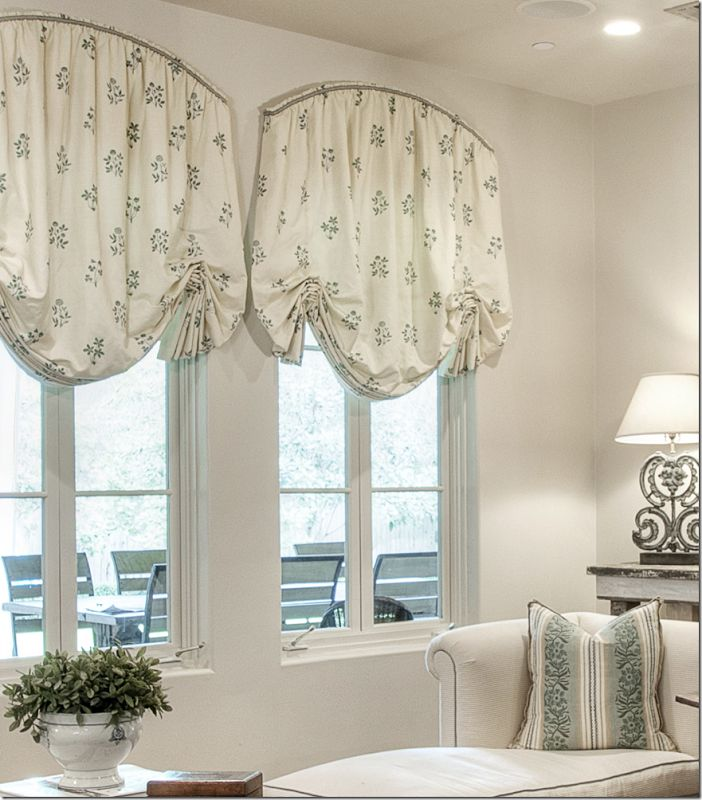 Arched window treatments the image kid for Shades and window treatments