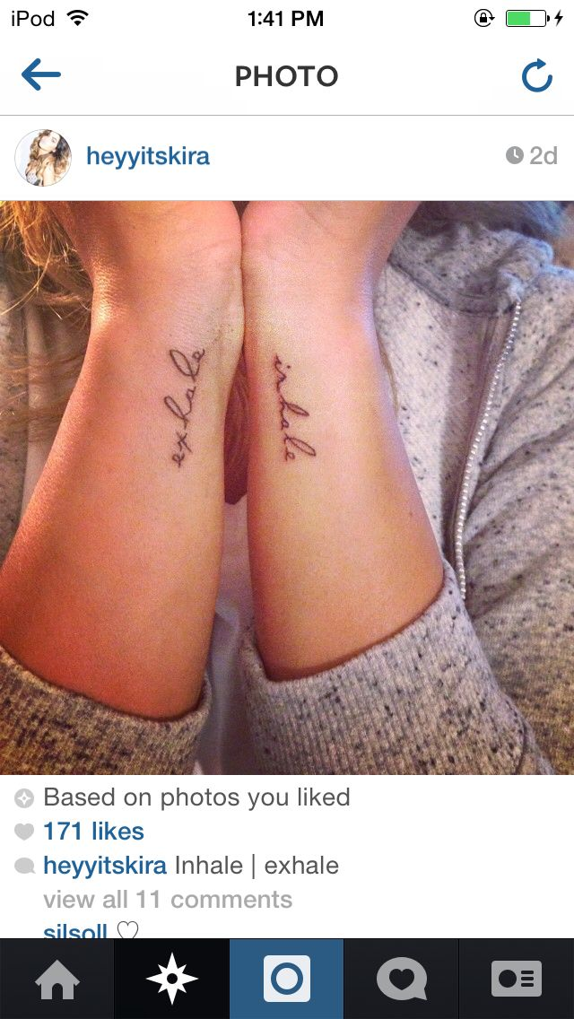 Inhale. Exhale. >> Quote Arm Tattoos