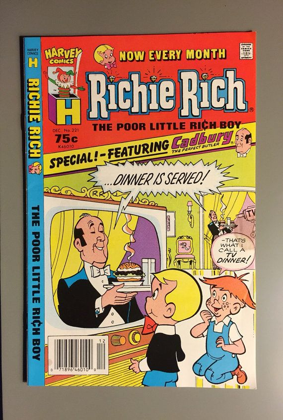 Vintage Comic: Richie Rich The Poor Little Rich Boy by Artimorean      ........................................................ Please save this pin... ........................................................... Visit Now!  OwnItLand.com