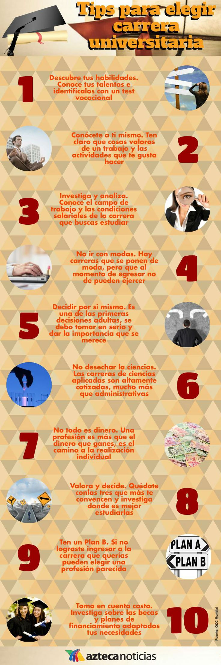 Tips para elegir carrera universitaria #infografia