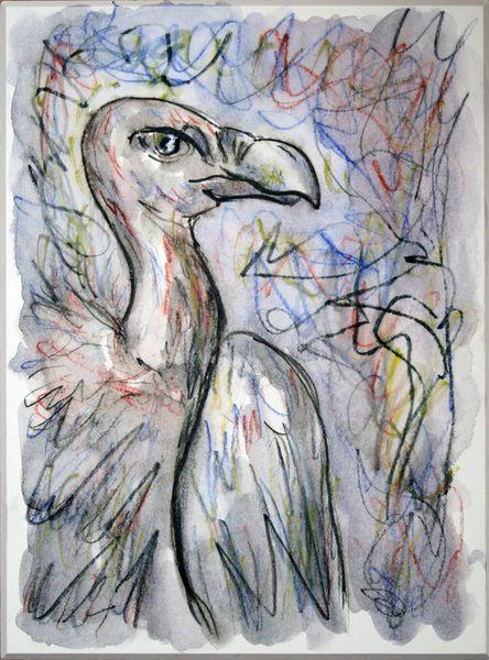 'Geier 2' von funkyzoo bei artflakes.com als Poster oder Kunstdruck $21.56