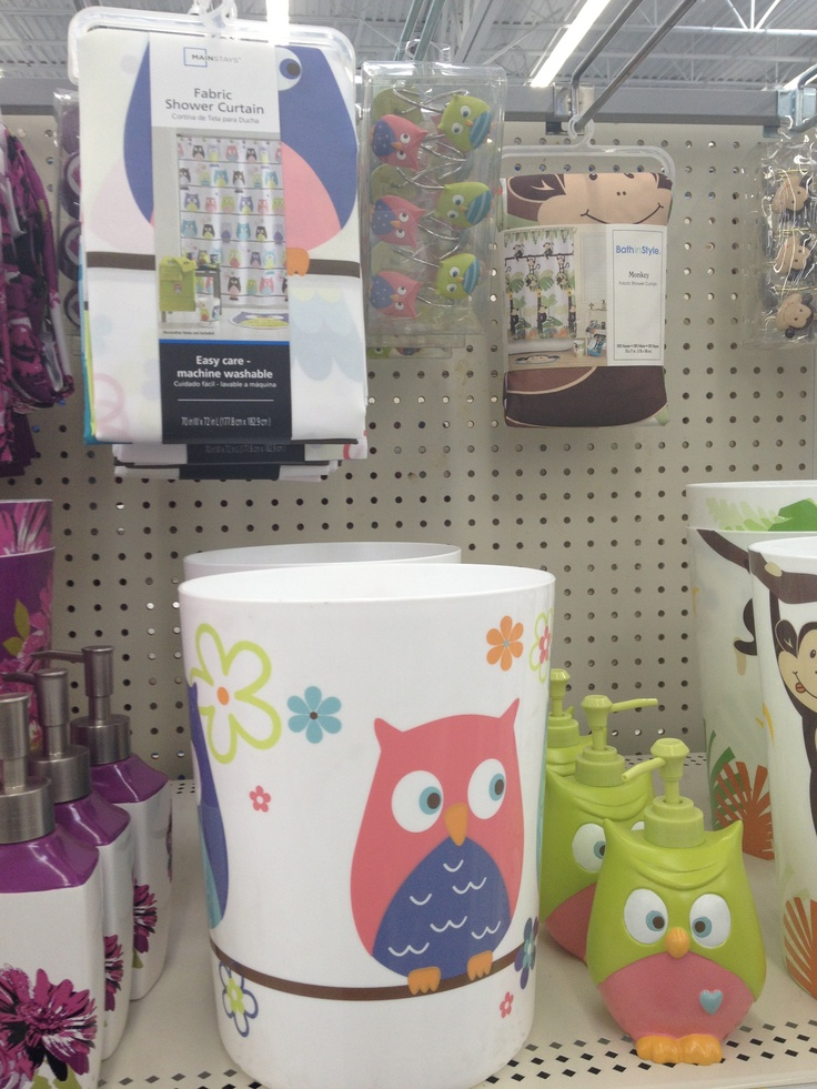 Owl Bathroom Stuff From Walmart Kmk