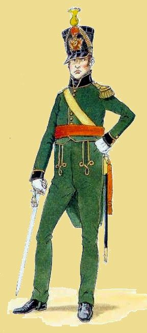 Officer of the 3rd company Nassau-Usingen Regiment, 1815
