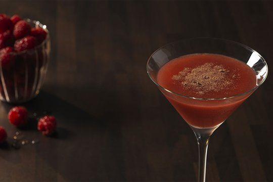 Raspberry and Chocolate Espresso Martini