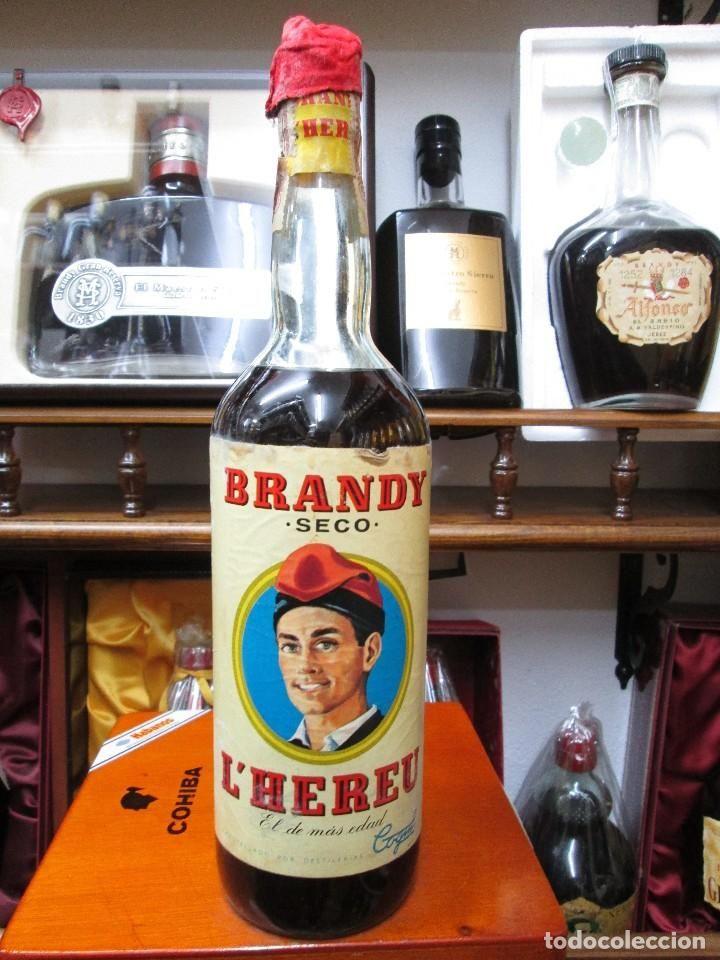 Compro Botellas De Vino Antiguas Antigua Botella Brandy Conac L Hereu Seco El De Mas Edad