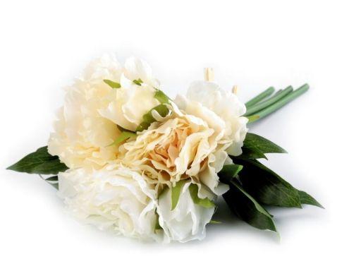 Dekorácia kvety pivónie cca 25 cm