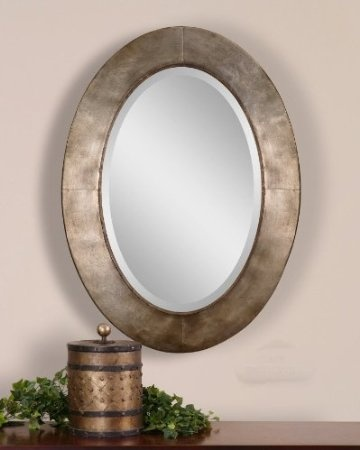 Amazon.com: Extra Large Silver Oval Wall Mirror XL Vanity Contemporary Modern Metal Designer: Furniture & Decor