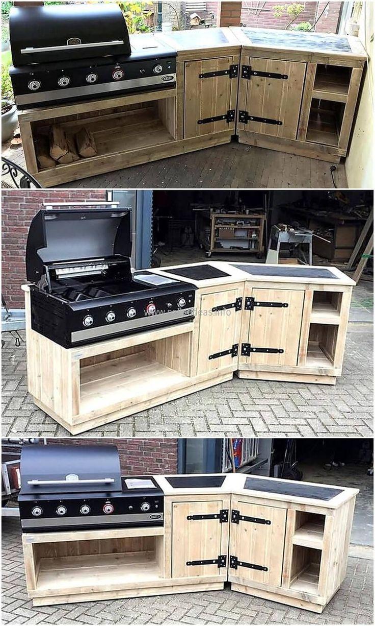 Erhalten Sie unsere besten Ideen für den Outdoor-Küchenbereich, bestehend aus charmantem Outdoor-Küchendekor, Hinterhof-Verbesserungsideen und Bildern des Outdoor-Kochens …