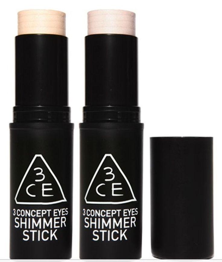 3CE 3 CONCEPT EYES  SHIMMER STICK 10g #Peach / #Pink choice Korean cosmetics  #3CE3CONCEPT