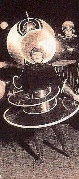 Oskar Schlemmer costume for Treadic Ballet 1922