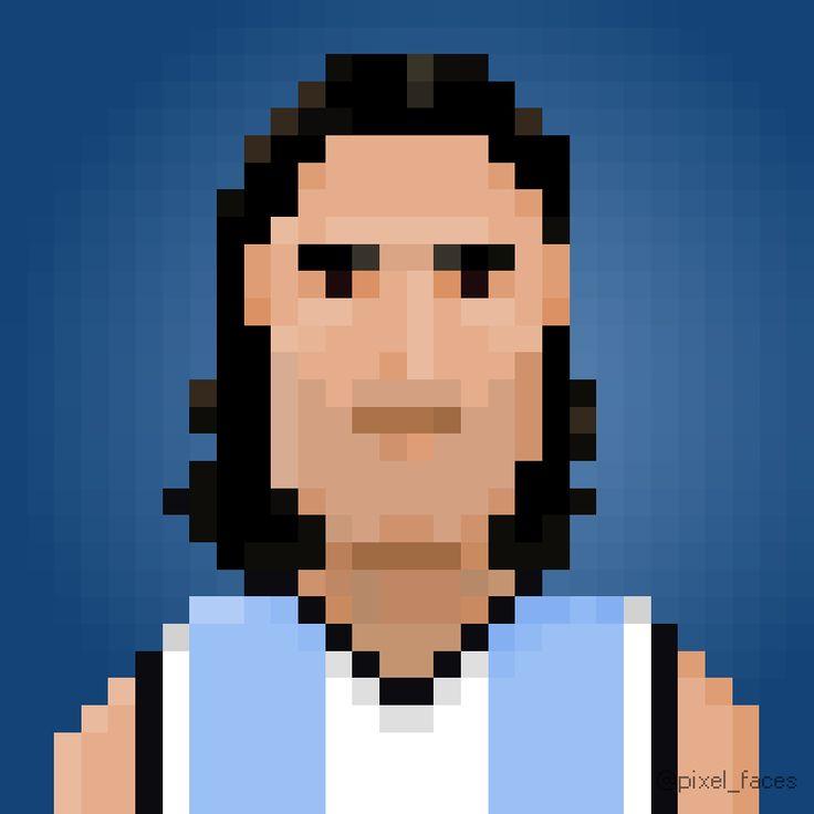 Pixel Faces - Luis Scola