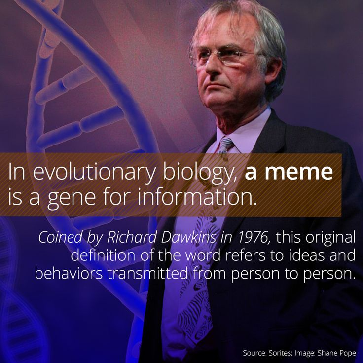 """The Original Definition of """"Meme"""" Referred To Evolution, Not LOLs"""