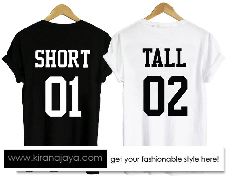 short and tall couple tshirt back