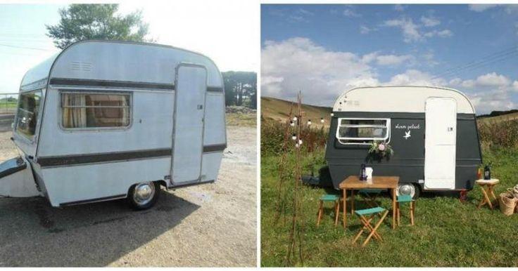 La renovación integral de una caravana vintage